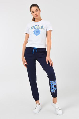 UCLA - MARINA Lacivert Daralan Kesim Baskılı Kadın Eşofman Alt (1)