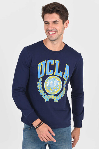 UCLA - MODESTO Lacivert Bisiklet Yaka Erkek Sweatshirt (1)