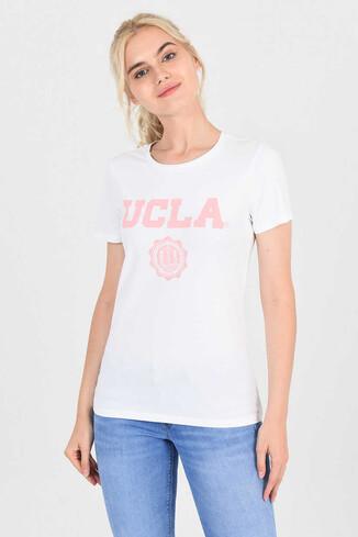 MOJAVE Beyaz Bisiklet Yaka Kadın T-shirt - Thumbnail (2)