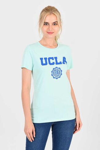 UCLA - MOJAVE Mint Bisiklet Yaka Kadın T-shirt