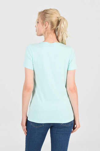 MOJAVE Mint Bisiklet Yaka Kadın T-shirt - Thumbnail (4)