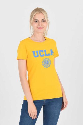 MOJAVE Sarı Bisiklet Yaka Kadın T-shirt - Thumbnail (3)