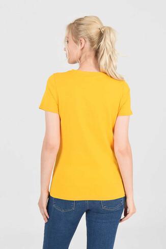 MOJAVE Sarı Bisiklet Yaka Kadın T-shirt - Thumbnail (4)