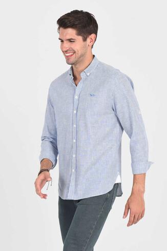 UCLA - NORCO Mavi Çizgili Erkek Gömlek