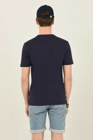 NORDEN Lacivert Bisiklet Yaka Erkek T-shirt - Thumbnail (3)
