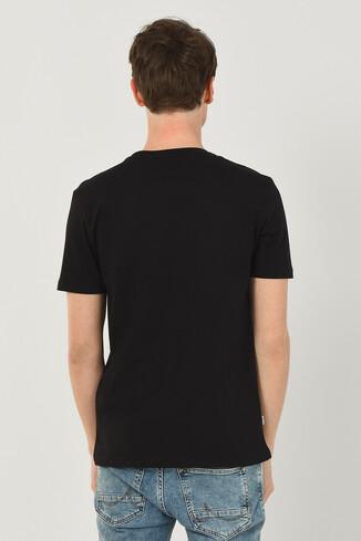 NORDEN Siyah Bisiklet Yaka Erkek T-shirt - Thumbnail (3)