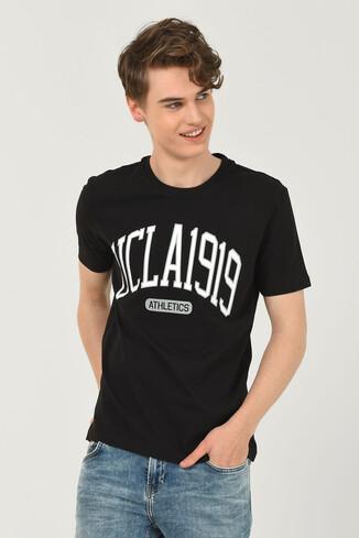 UCLA - NORDEN Siyah Bisiklet Yaka Erkek T-shirt