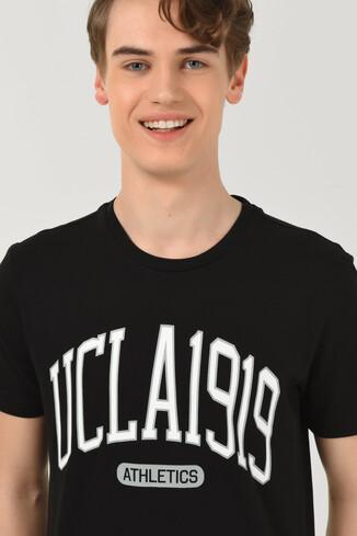 UCLA - NORDEN Siyah Bisiklet Yaka Erkek T-shirt (1)