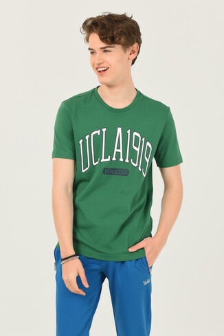 UCLA - NORDEN Yeşil Bisiklet Yaka Erkek T-shirt