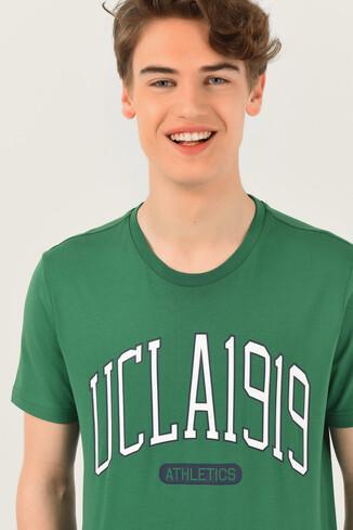 UCLA - NORDEN Yeşil Bisiklet Yaka Erkek T-shirt (1)