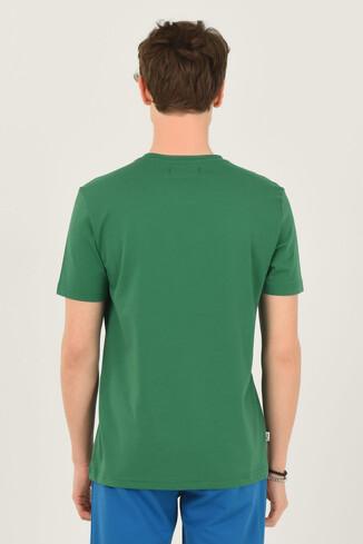 NORDEN Yeşil Bisiklet Yaka Erkek T-shirt - Thumbnail (3)