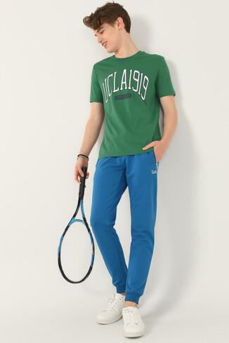 NORDEN Yeşil Bisiklet Yaka Erkek T-shirt - Thumbnail (4)