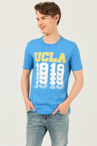 UCLA - NORVATO Mavi Bisiklet Yaka Erkek T-shirt