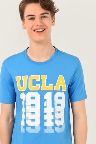 UCLA - NORVATO Mavi Bisiklet Yaka Erkek T-shirt (1)