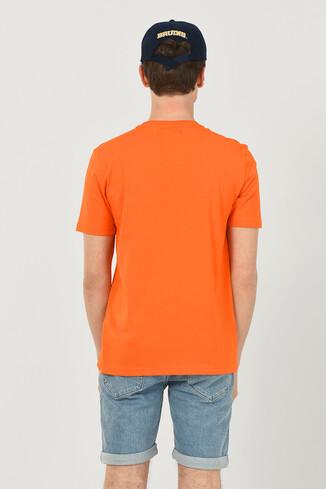 NORVATO Turuncu Bisiklet Yaka Erkek T-shirt - Thumbnail (3)