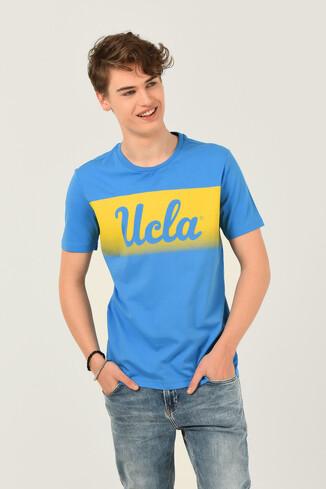 UCLA - OXNARD Mavi Bisiklet Yaka Erkek T-shirt