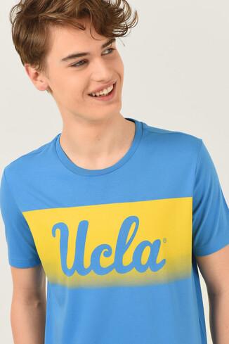 UCLA - OXNARD Mavi Bisiklet Yaka Erkek T-shirt (1)