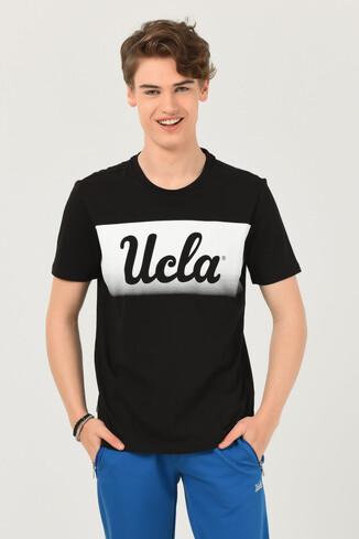UCLA - OXNARD Siyah Bisiklet Yaka Erkek T-shirt
