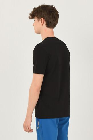 OXNARD Siyah Bisiklet Yaka Erkek T-shirt - Thumbnail (3)