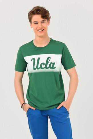 UCLA - OXNARD Yeşil Bisiklet Yaka Erkek T-shirt