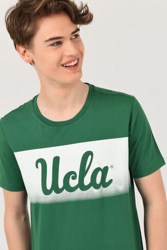 UCLA - OXNARD Yeşil Bisiklet Yaka Erkek T-shirt (1)