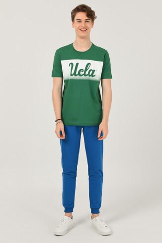OXNARD Yeşil Bisiklet Yaka Erkek T-shirt - Thumbnail (2)