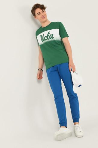 OXNARD Yeşil Bisiklet Yaka Erkek T-shirt - Thumbnail (4)