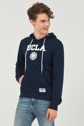 UCLA - PHELAN Lacivert Kapüşonlu Baskılı Erkek Sweatshirt (1)