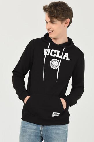 UCLA - PHELAN Siyah Kapüşonlu Baskılı Erkek Sweatshirt (1)