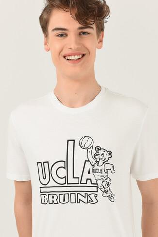 UCLA - PINOLE Beyaz Bisiklet Yaka Baskılı Erkek T-shirt (1)
