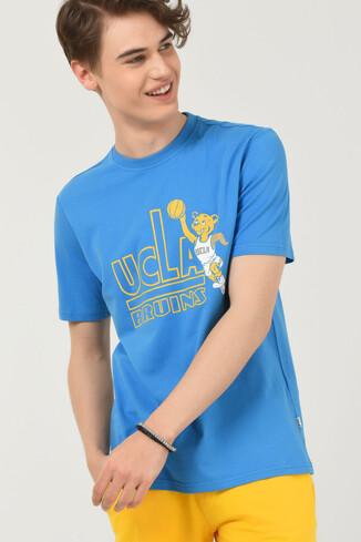 UCLA - PINOLE Mavi Bisiklet Yaka Baskılı Erkek T-shirt