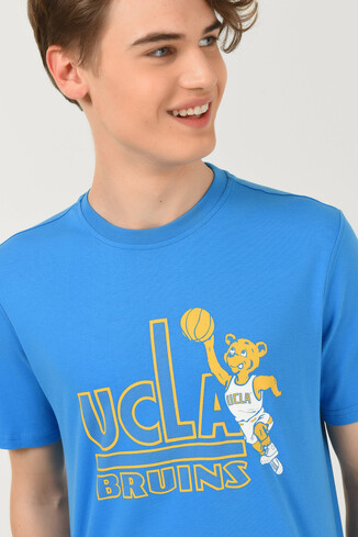 UCLA - PINOLE Mavi Bisiklet Yaka Baskılı Erkek T-shirt (1)