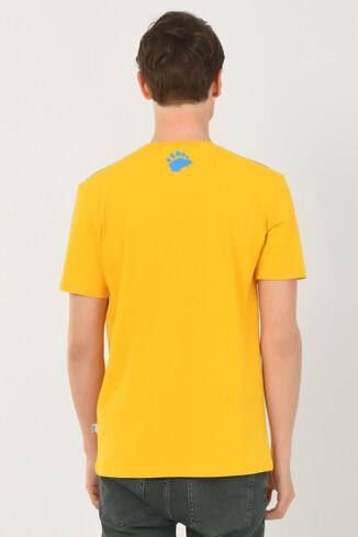 PINOLE Sarı Bisiklet Yaka Baskılı Erkek T-shirt - Thumbnail (3)