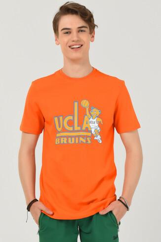 UCLA - PINOLE Turuncu Bisiklet Yaka Baskılı Erkek T-shirt