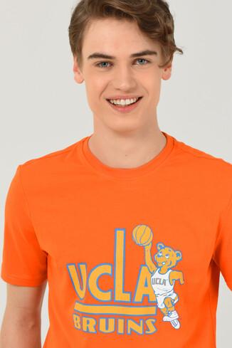 UCLA - PINOLE Turuncu Bisiklet Yaka Baskılı Erkek T-shirt (1)
