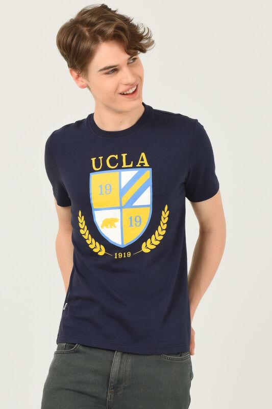 POMONA Lacivert Bisiklet Yaka Erkek T-shirt - Thumbnail