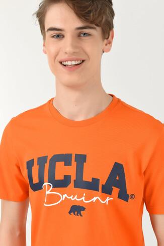 UCLA - RAMONA Turuncu Bisiklet Yaka Erkek T-shirt (1)