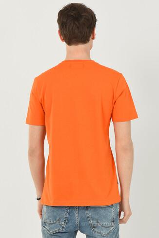 RAMONA Turuncu Bisiklet Yaka Erkek T-shirt - Thumbnail (3)