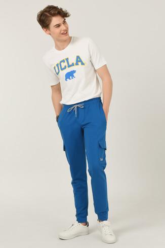 UCLA - REDLAND Mavi Daralan Kesim Kargo Cepli Erkek Eşofman Alt
