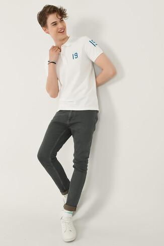 REDWAY Beyaz Polo Yaka Erkek T-shirt - Thumbnail (2)
