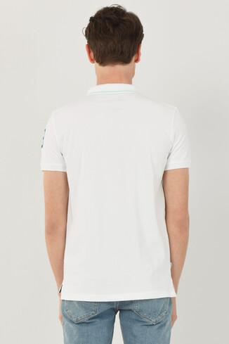REDWAY Beyaz Polo Yaka Erkek T-shirt - Thumbnail (3)
