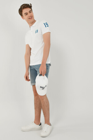 REDWAY Beyaz Polo Yaka Erkek T-shirt - Thumbnail (4)