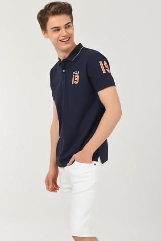 UCLA - REDWAY Lacivert Polo Yaka Erkek T-shirt (1)