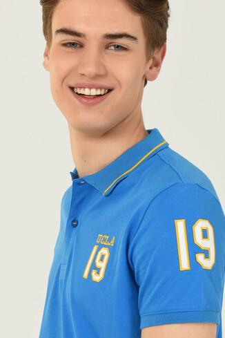 UCLA - REDWAY Mavi Polo Yaka Erkek T-shirt (1)