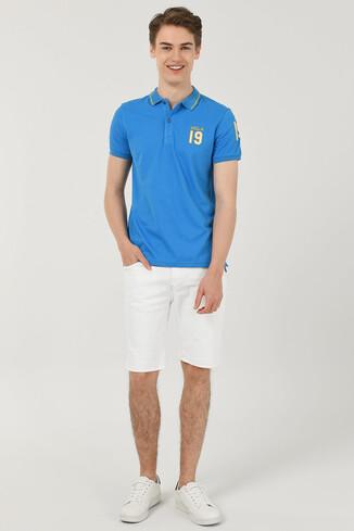 REDWAY Mavi Polo Yaka Erkek T-shirt - Thumbnail (2)