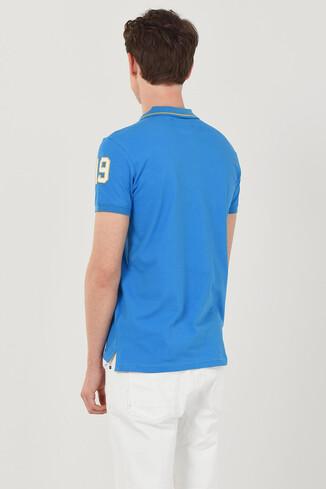 REDWAY Mavi Polo Yaka Erkek T-shirt - Thumbnail (3)