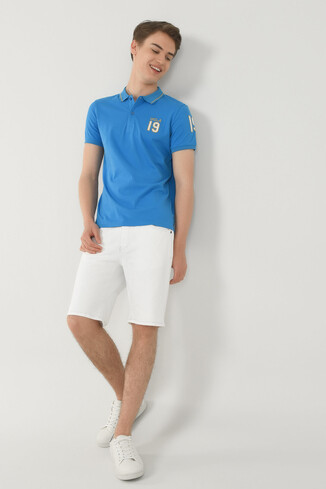 REDWAY Mavi Polo Yaka Erkek T-shirt - Thumbnail (4)