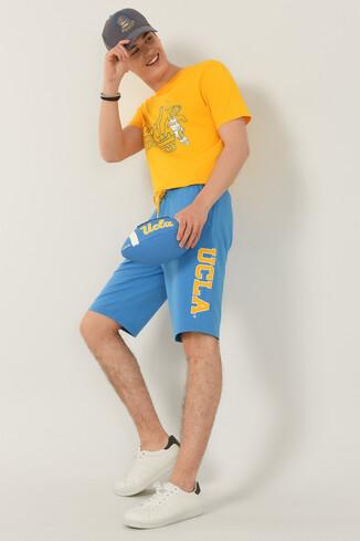UCLA - ROCKLIN Mavi Erkek Örme Şort