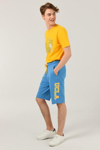 UCLA - ROCKLIN Mavi Erkek Örme Şort (1)