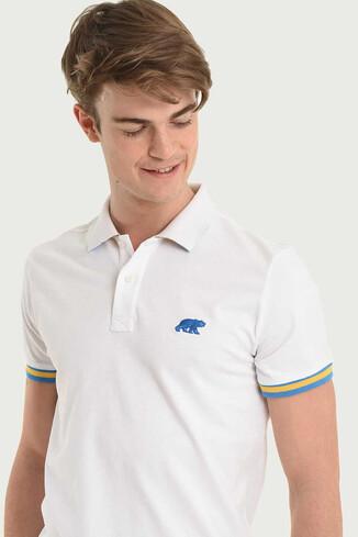 UCLA - SANTEE Beyaz Polo Yaka Erkek T-shirt